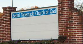 Lighted Sign for Church